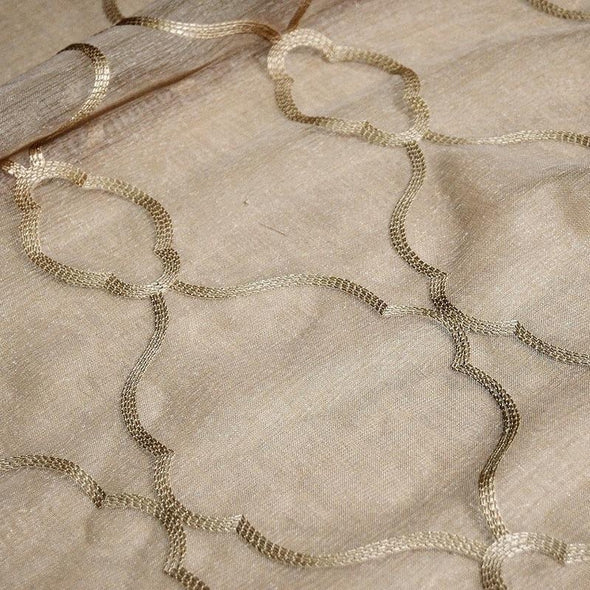 Vertigo Sheer Table Linen in Champagne