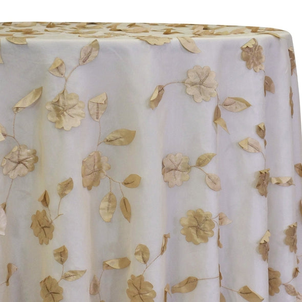 Lily Petal Table Linen in Champagne