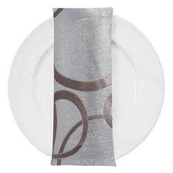 Cirque Jacquard (Double-Sided) Table Napkin in Champagne