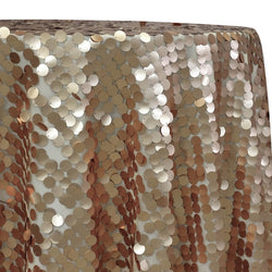 Payette Sequins Table Linen in Champagne