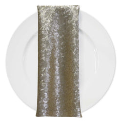 Glitz Sequins (w/ Poly Lining) Table Napkin in Champagne