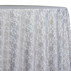 Classic Lace Table Linen in Charcoal 1606