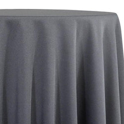 Charcoal Tablecloth in Polyester for Weddings