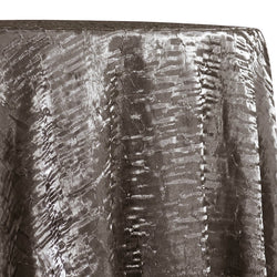 Crush Shimmer (Galaxy) Table Linen in Charcoal 07