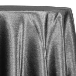 Luxury Satin Table Linen in Charcoal