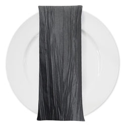 Accordion Taffeta Table Napkin in Charcoal
