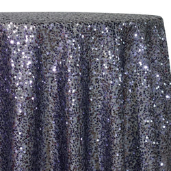 Taffeta Sequins Table Linen in Charcoal