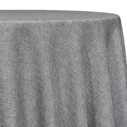Imitation Burlap (100% Polyester) Table Linen in Charcoal