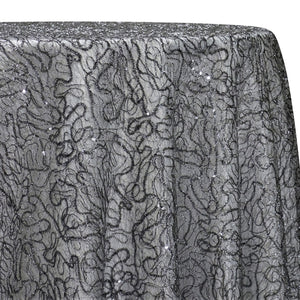 Bedazzle Table Linen in Charcoal