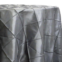 "4"" Pintuck Taffeta Table Linen in Charcoal"