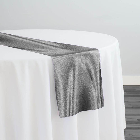 Luxury Satin Table Runner in Charcoal