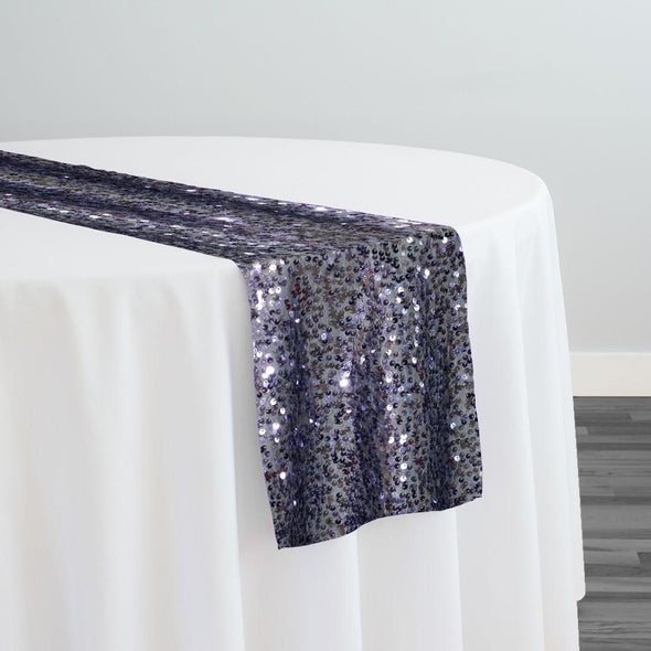 Taffeta Sequins Table Runner in Charcoal