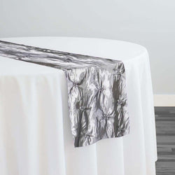 Belly Button (Pinwheel) Table Runner in Charcoal