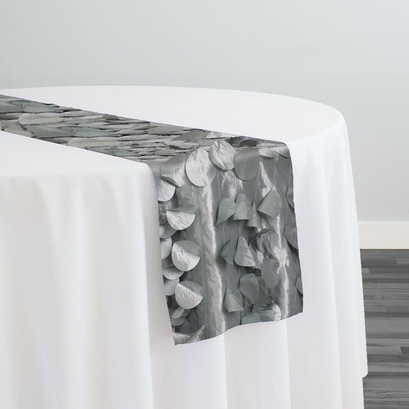 Funzie (Circle Hanging) Taffeta Table Runner in Charcoal
