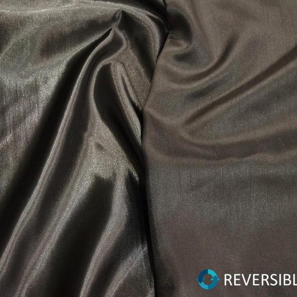 Shantung Satin Table Runner in Charcoal
