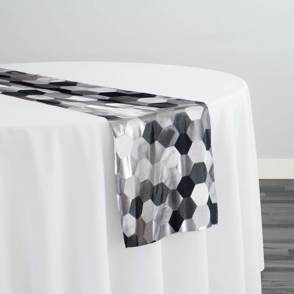 Metro Jacquard Table Runner in Charcoal