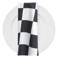 "Lamour Print Table Napkins in 4""x4"" Checker"