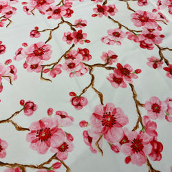 Cherry Blossom Poly Print Table Linen