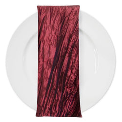 Accordion Taffeta Table Napkin in Cherry