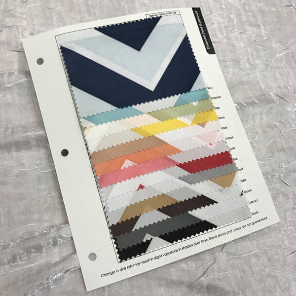 Chevron (Lamour) Print Color Card