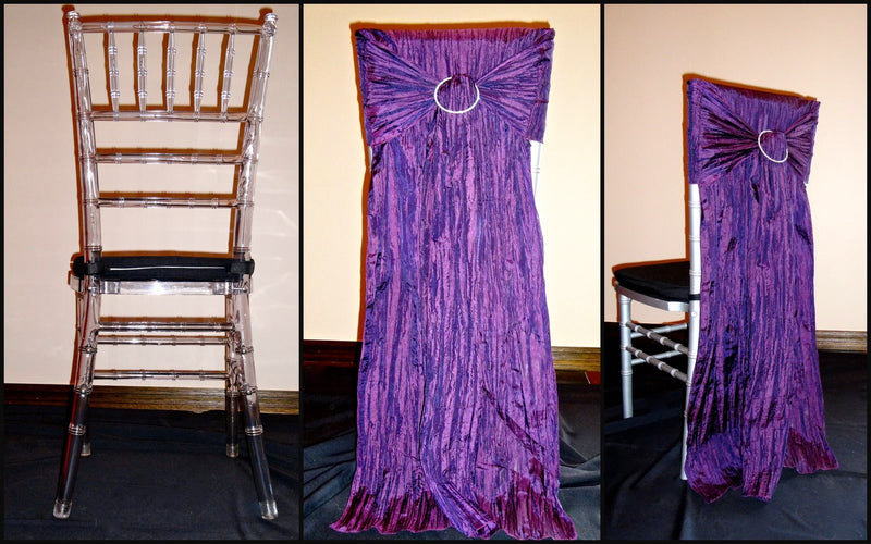 Accordion Taffeta Chivari Chair Back w/ Ties