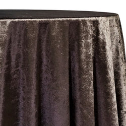 Lush Velvet Table Linen in Chocolate