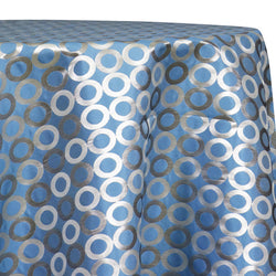 Mosaic Jacquard (Reversible) Table Linen in Turquoise and Silver