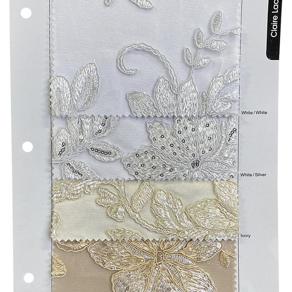 Claire Lace Table Runner in Ivory