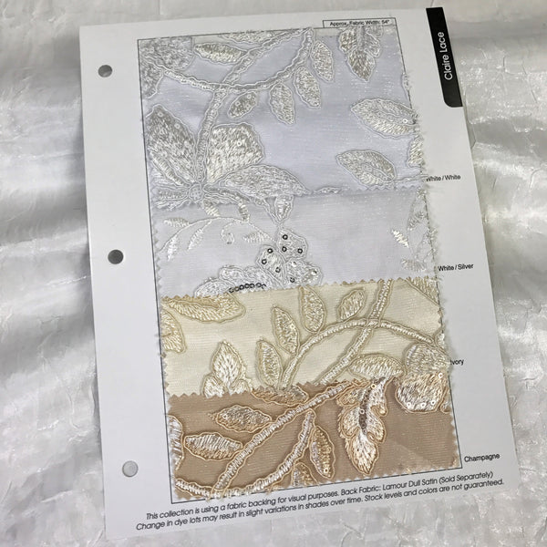 Claire Lace Color Card