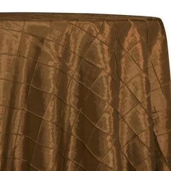 "2"" Pintuck Taffeta Table Linens in Copper 028"