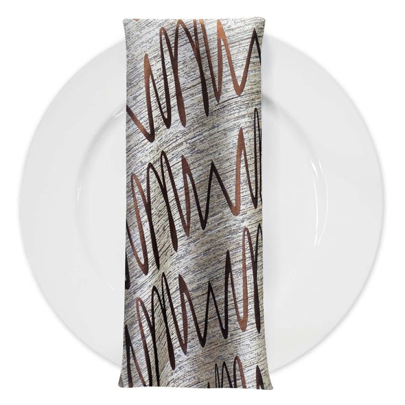 Zion Jacquard Table Napkin in Copper