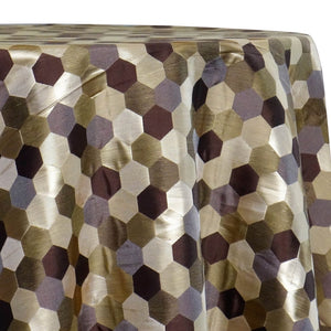 Metro Jacquard (Reversible) Table Linen in Copper