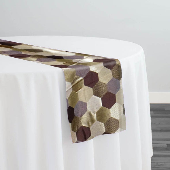 Metro Jacquard Table Runner in Copper