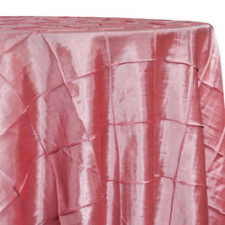 "4"" Pintuck Taffeta Table Linen in Coral 131"
