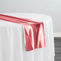 Bridal Satin Table Runner in Coral 201