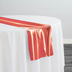 Bridal Satin Table Runner in Coral 208