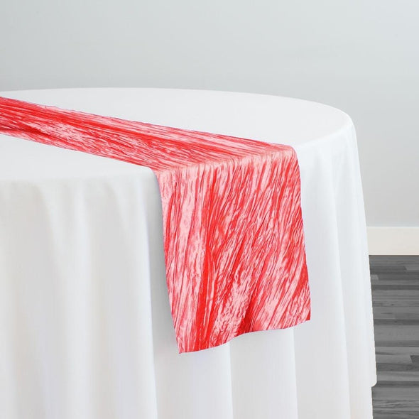 Accordion Taffeta Table Runner in Coral