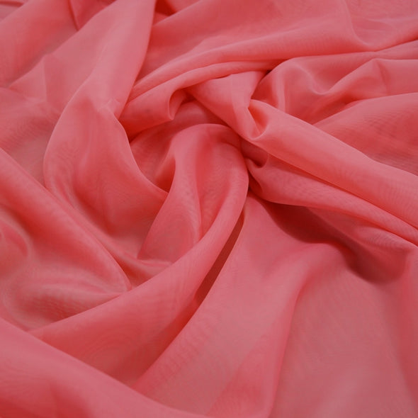 Voile Wholesale Fabric in Coral Kiss