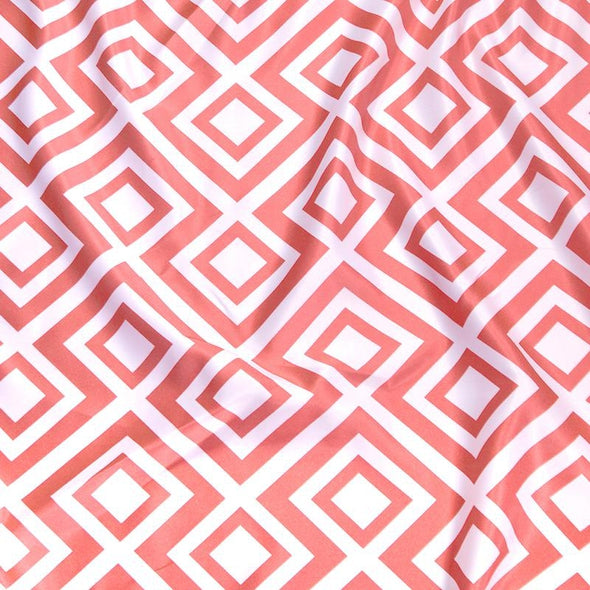 Paragon Print Lamour Table Napkin in Coral