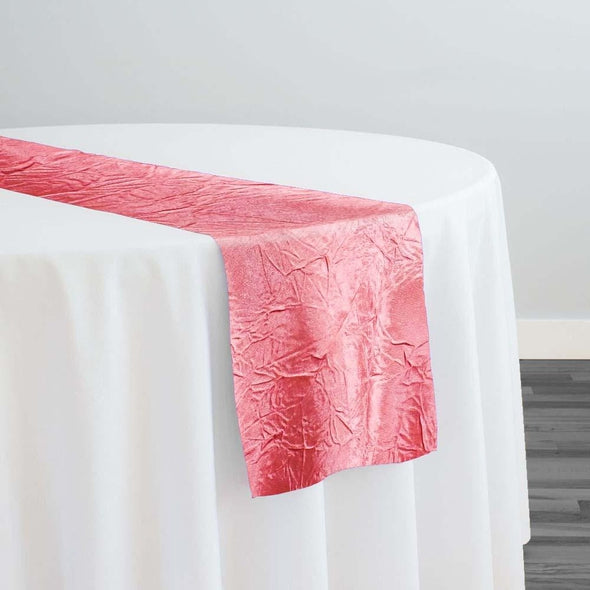 Crush Satin (Bichon) Table Runner in Coral 201