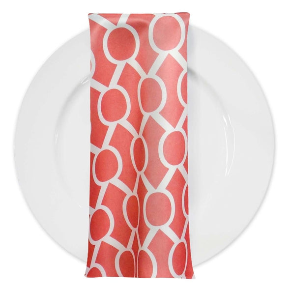 Halo Print Lamour Table Napkin in Coral
