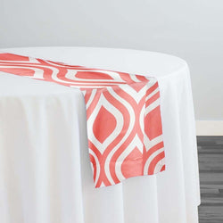 Groovy Print (Lamour) Table Runner in Coral