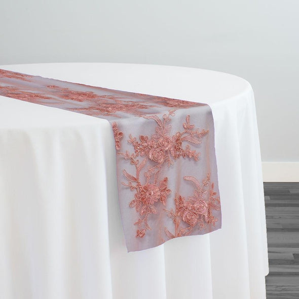 Laylani Lace Table Runner in Coral