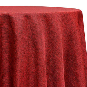 Imitation Burlap (100% Polyester) Table Linen in Cranberry