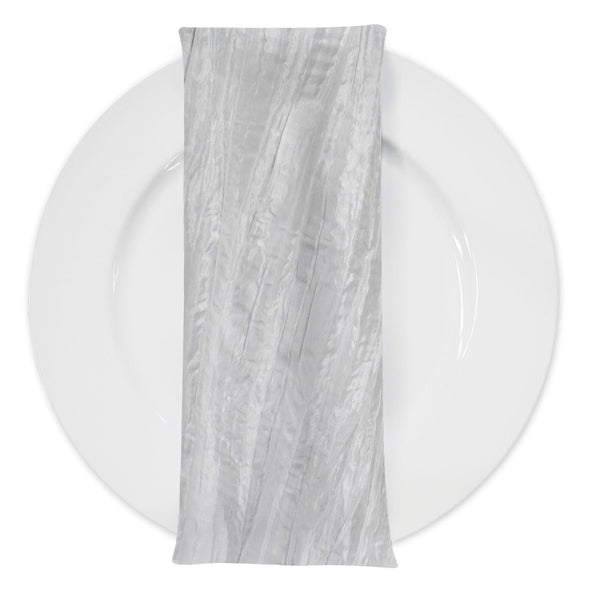Accordion Taffeta Table Napkin in Cream