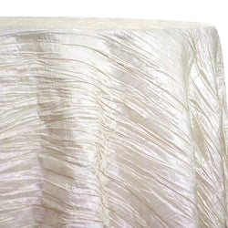 Accordion Taffeta Table Linen in Cream