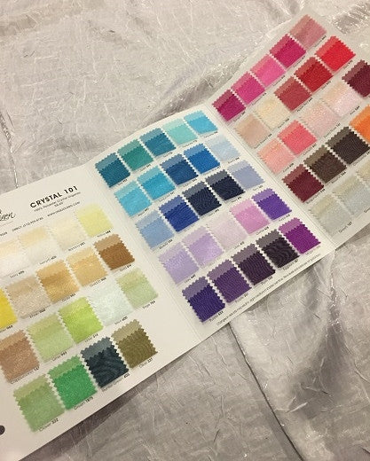 Crystal Organza Color Card