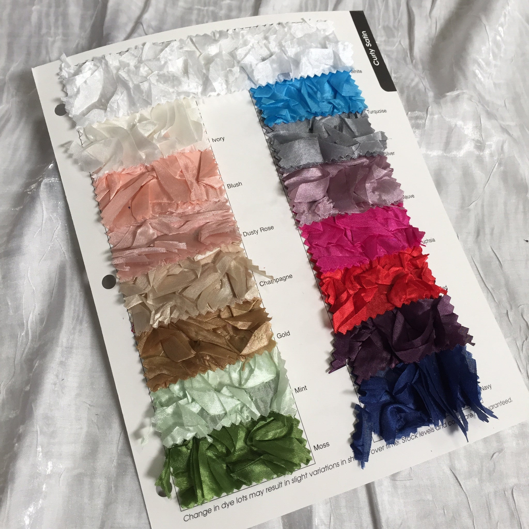 Curly Satin Color Card