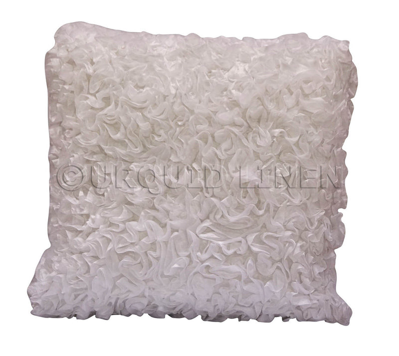 Curly Satin Throw Pillow