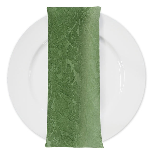 Damask Polyester Table Napkin in Sage 1152